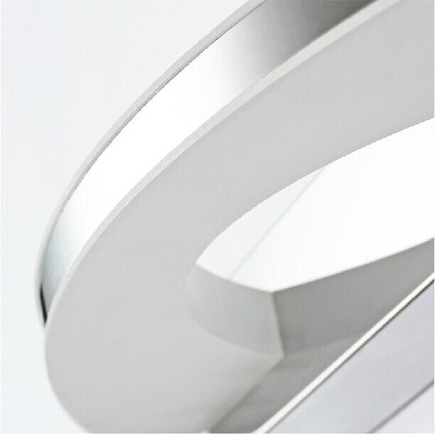 comprar w led de pared de luz lmpara de pared iluminacin espejo luces del bao blanco fro clido blanco acero inoxidable moderna