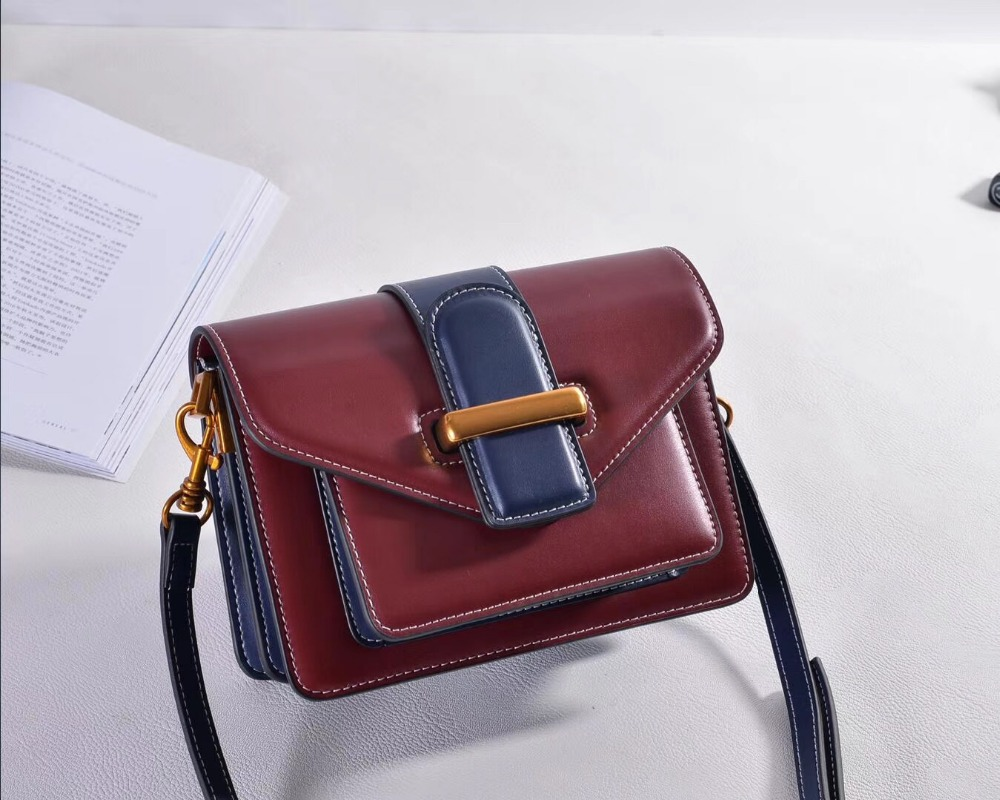 Kafunila genuine leather small flap bag fashion design box bag elegant women shoulder bag real leather messenger bag for ladies цена 2017