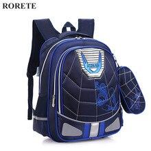 Hombre Araña de la historieta mochilas Ortopédicos Niños Impermeables mochila escolar para los niños bolsas de hombro mochilas escolares infantis