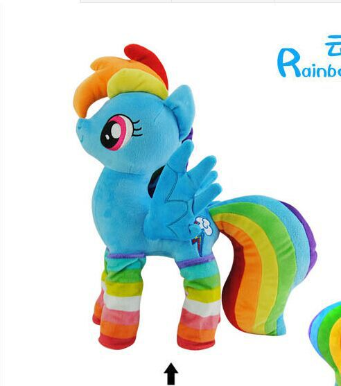 Lovely New Blue Horse Toy Stuffed Party Dress Horse Doll Rainbow