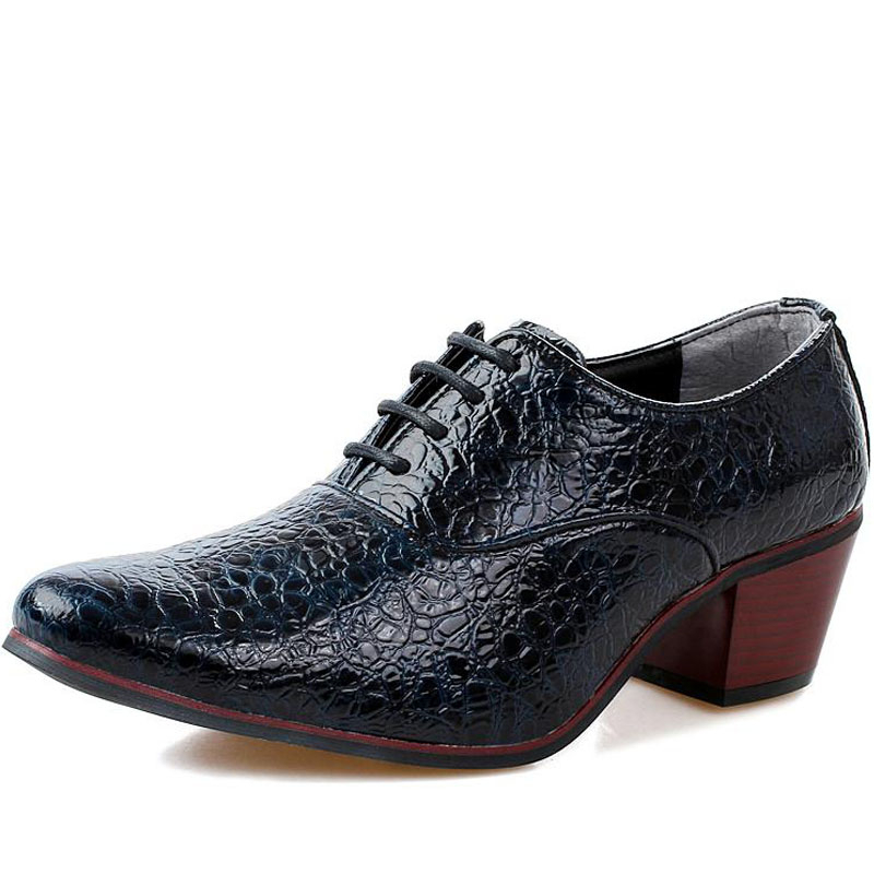 italian style alligator leather dress shoes mens high