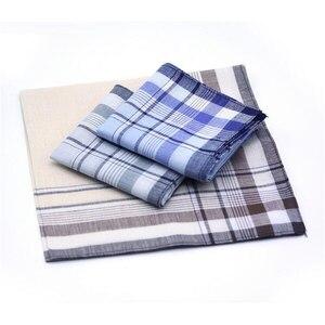 Image 2 - 5 Pcs/lot 100% coton poitrine serviette Plaid rayure mouchoirs poche Hanky mouchoirs poche pour hommes femmes affaires Style