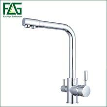 Küchenarmatur Mischer Chrome Trinkwasserfilter Tippen mit Gefiltert/gereinigtes Wasser Auslauf torneira cozinha