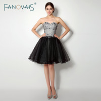 Top Fashion Two Colors Crystal Organza Cocktail Dresses For Party Knee Length Vestido De Coquetel Summer Style CPCD42