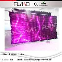 Size can be customized flexible led video curtain P5cm 2x3m colorfull suitable for bars ,stage, club,party , etc led curtain