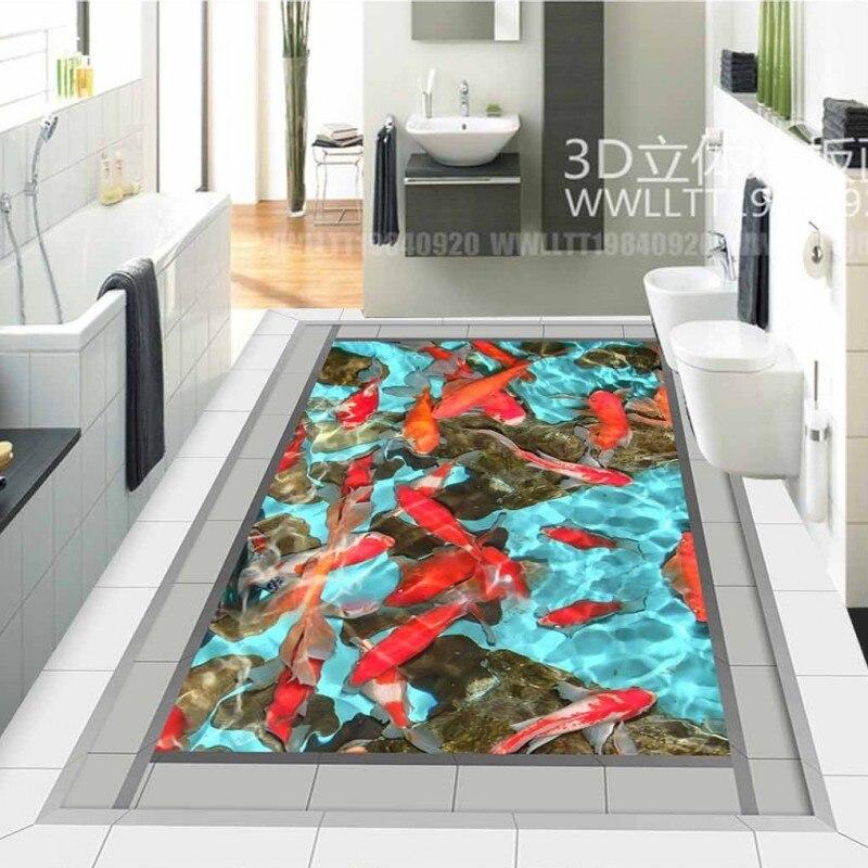 Free Shipping 3D outdoor flooring painting waterproof non-slip bedroom square bathroom living room lobby flooring mural диск обрезиненный atlet d 26 мм 20 кг