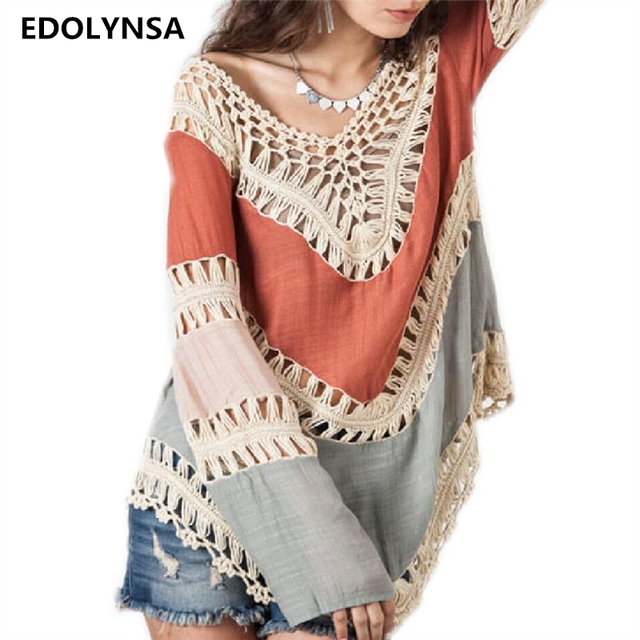 Nieuwkomers Sexy Strand Poncho Cover Up Haak Badmode Dames Pareo
