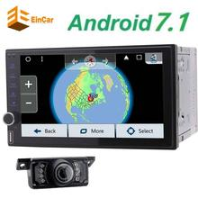 "Free Backup camera+EinCar Android7.1 Octa Core Double Din 7"" Car Stereo GPS Navigation Vehicle Audio AM FM Radio Bluetooth/WiFi"