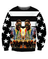 Biggie Smalls Stripes Sweatshirt The Notorious B.I.G. Sweats Women/Men  Tops Casual Hoodies Jumper tops Free Shipping