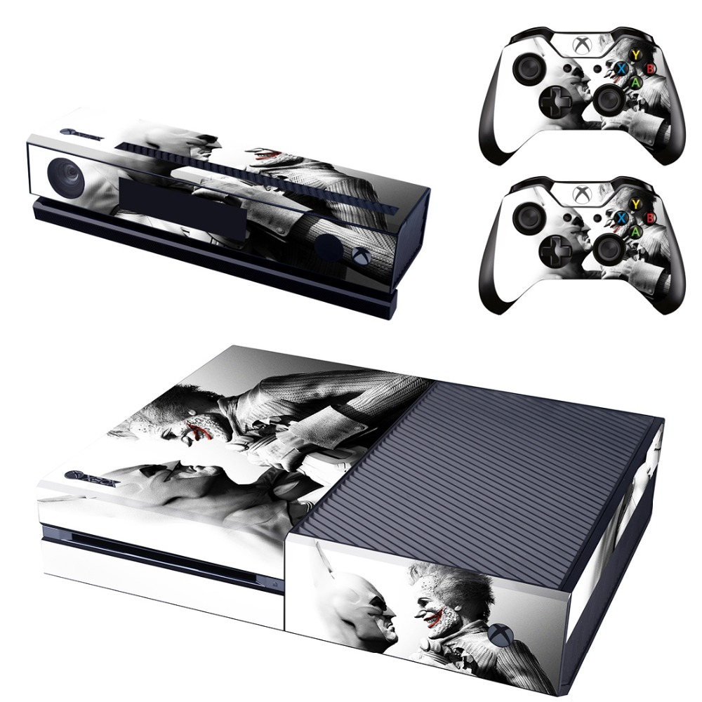 Faceplates, Decals & Stickers Romantic Batman And Joker Xbox One S 3 Sticker Console Decal Xbox One Controller Vinyl Buy One Get One Free Video Game Accessories