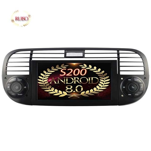 R 1698 0 26 De Desconto S200 Android 8 0 De Audio Do Carro Para Fiat 500 Quadro Preto E Branco Dispositivo De Unidade De Cabeca De Navegacao