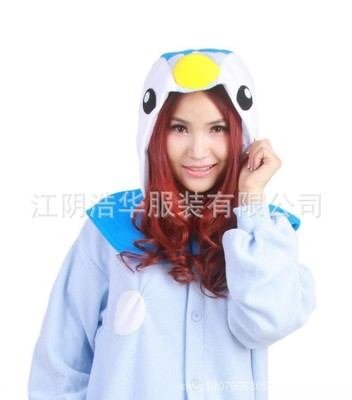 f0ad40e9436 anime Pokemon Go Piplup Onesie Animal Pattern Jumpsuit Adult Sleepwear  Polar Fleece Pajamas blue penguin cosplay-in Anime Costumes from Novelty    Special ...