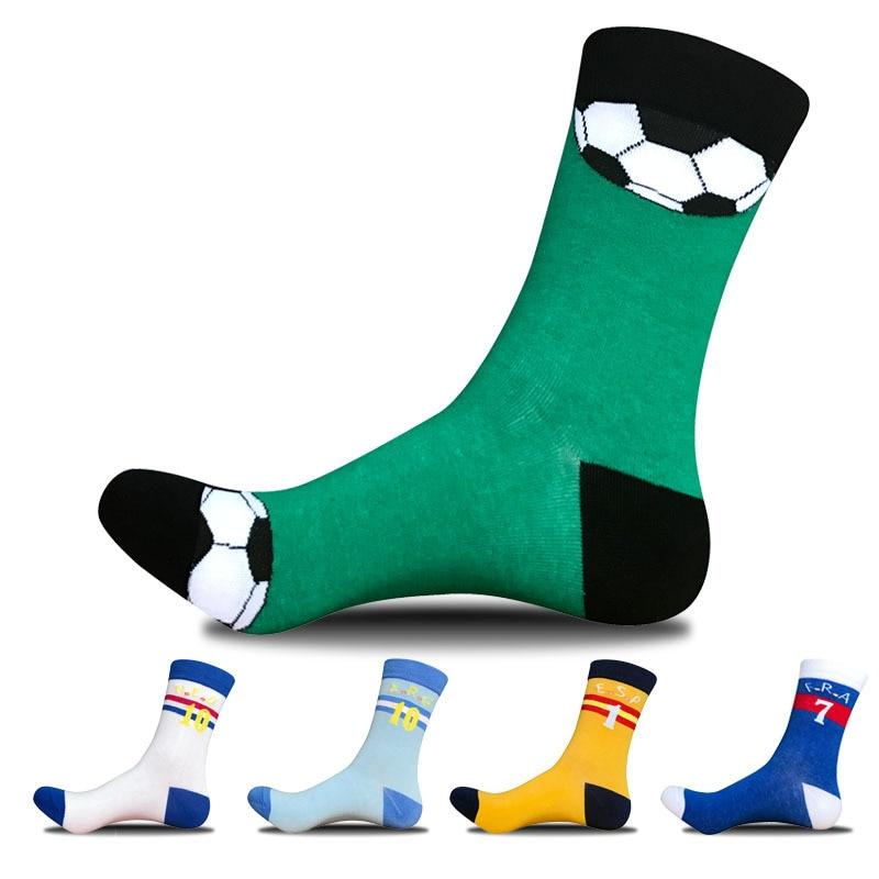 5pairs/lot men cotton sporttig socks figure novelty crew socks breathable bright color set socks strips number sokken funny sox