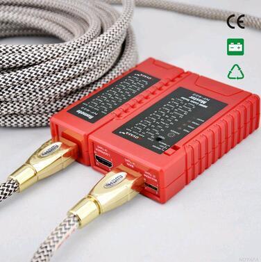 Envío gratis, NOYAFA NF-622 HDMI Cable Tester herramienta verificación con tipo A - un, A - C y C - C conectores
