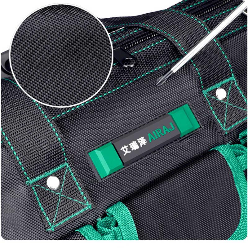 AIRAJ 2020 сумка для инструментов, простая/Классическая/обновленная/флагманская Толстая Водонепроницаемая многофункциональная сумка электрика большой емкости
