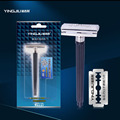 Safety Razor Excellent Quality Simple Packing Steel Head Shaving Razor Holder Gifts For Men Friends Double Edges Beard Shavers
