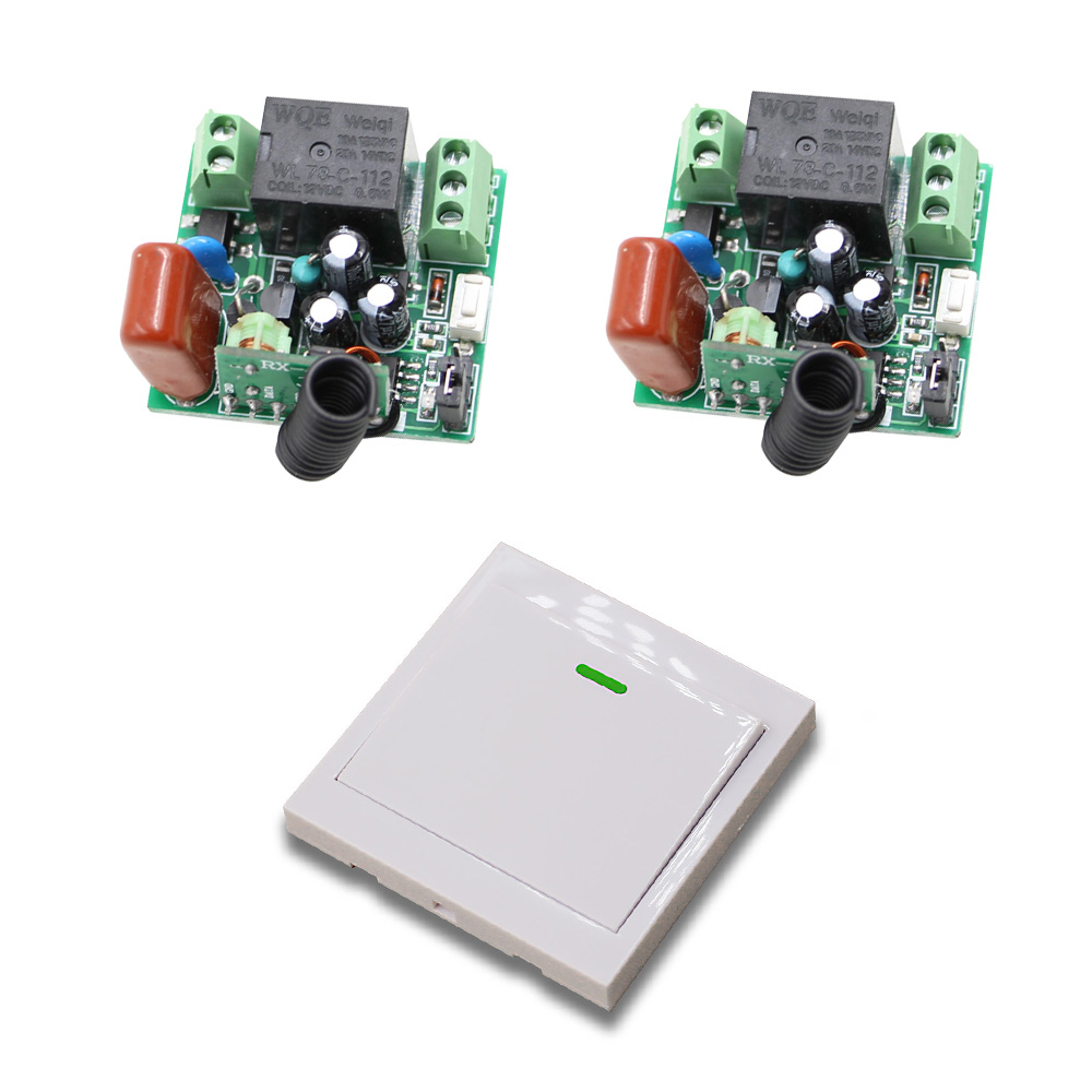 AC 220V 10A Remote Control Switch 1CH Relay Receiver Wall Transmitter Wireless Radio Light Switch Remote Controller 315/433Mhz ac 220v 10a wireless remote control switch 1ch relay receiver module wall transmitter radio light switch fixed code 315 433mhz