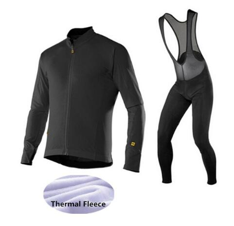 Nero Rosso 2017 Mavic Panno Morbido di Inverno Termico Abbigliamento Ciclismo uomini Jersey di Riciclaggio Set Ropa ciclismo Invierno Maillot Ciclismo Suit