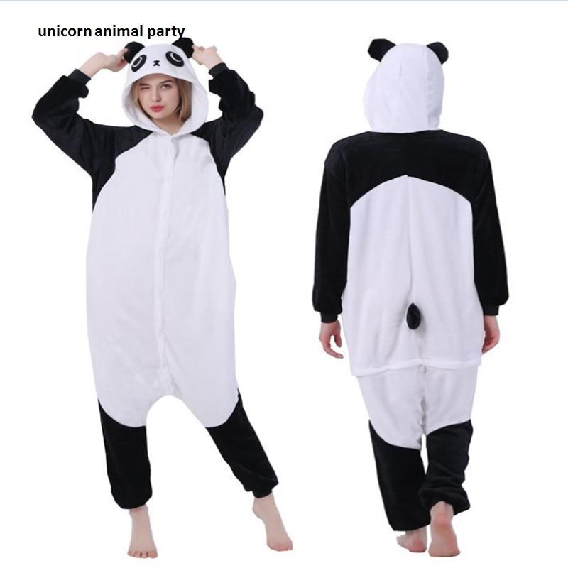 Kigurumi Panda Pajamas Animal Onesies Romper Sleepwear Jumpsuit - საკარნავალო კოსტიუმები - ფოტო 1