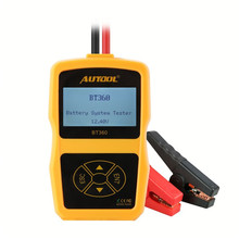 цена на Original AUTOOL BT360 Car Battery Tester 12V Digital Analyzer 2000CCA 220AH Multi-Languages BAD Cell Test Car Tools High Quality