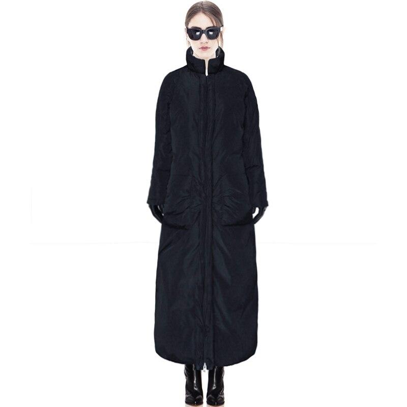 Épaissir Survêtement Femmes Taille Lc204 D'hiver Nouvelles Chaud 100 Mode 2018 Solide À Bas Manteau Le Long Veste Black Vers Xsjpzh Grande ZwaBxnSF