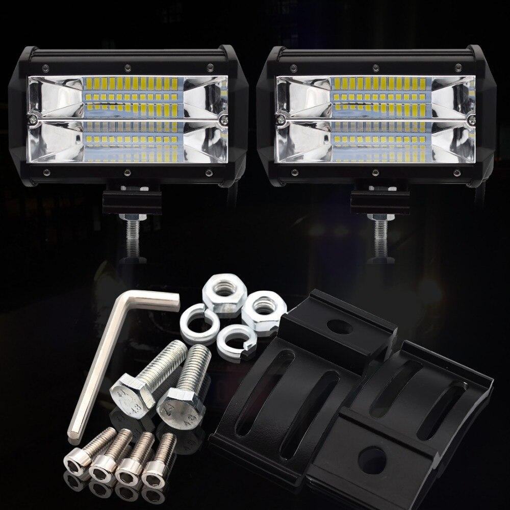 Image 3 - Safego 4 5 дюймов 60 Вт 72 Вт светодиодный рабочий свет бар 12 В точечный прожектор чипы внедорожный 4x4 противотуманный свет дальнего света Лампа для грузовика лодка упаковка 24 В-in Световая рейка/рабочее освещение from Автомобили и мотоциклы