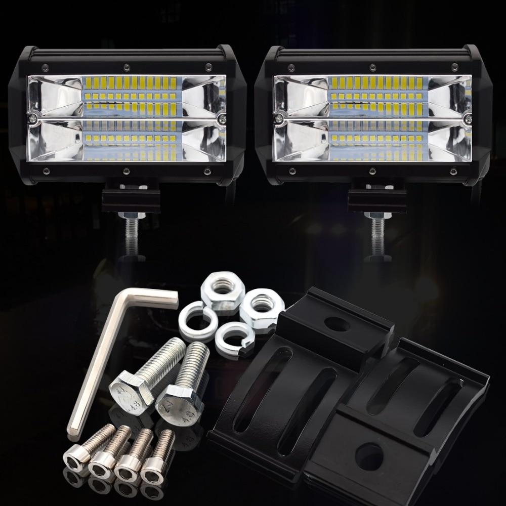 Image 3 - Safego 4 5 Inch 60W 72W LED Work Light Bar 12V Spot Flood Chips Offroad 4x4 Fog Light Driving Light Lamp For Truck Boat Pack 24V-in Light Bar/Work Light from Automobiles & Motorcycles