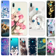 For Huawei Y6 2019 Case Pro Pattern Soft Silicone TPU Cover Phone case Y6Pro MRD-LX1 MRD-LX1F