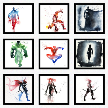 Splash ink  a number of super hero The Avenge decorative painting painting living room bedroom decorative picture
