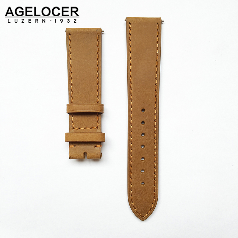 Good Quality Genuine Leather Watchband Watchstraps 20mm Pin Buckle &Folding clasp Colorful Watch Band Black Brown Tan Coffee high quality genuine leather watchband 22mm brown black wrist watch band strap wristwatches stitched belt folding clasp men