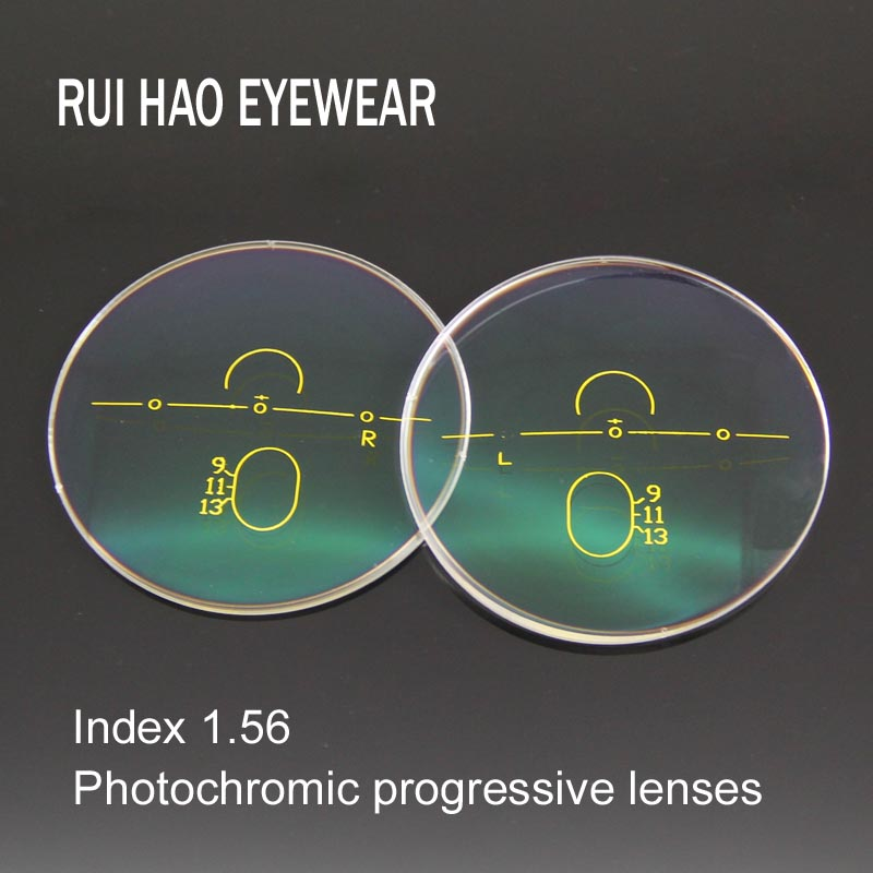 1 56 Progressive Lenses Photochromic Lenses Brown or Grey Photochromic Sunglasses Lens Far Near Resin Lens
