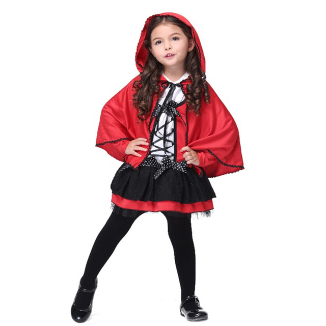 New Little Red Rding Hood Cosplay Costume Halloween Carnival Party ...