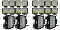 20pcs Car External Lights 4inch Led Work Light 48w For Tractor Truck Trailer SUV Off Roads