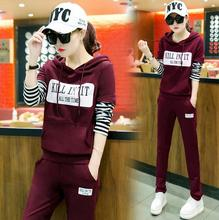 2016 Women Sport Suit sports wear High quality Two Piece Sets Hoodies Tracksuit womens running sets