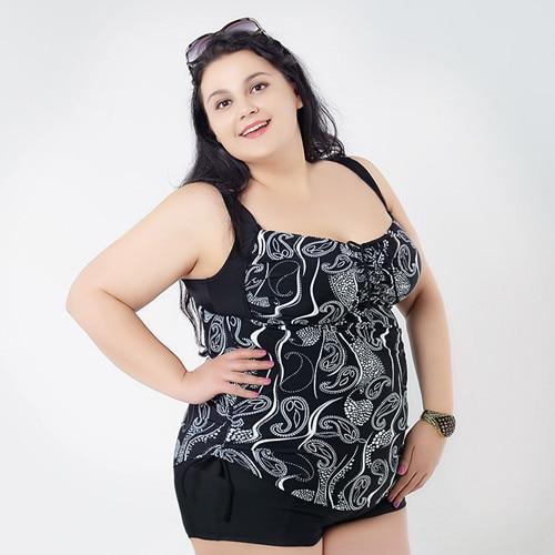 2015 Summer Dress Super Large Women Dresses Swimwear Tankinis Set Leopard Bathing Suit Plus Size Designed For Big Women 2XL 6XL