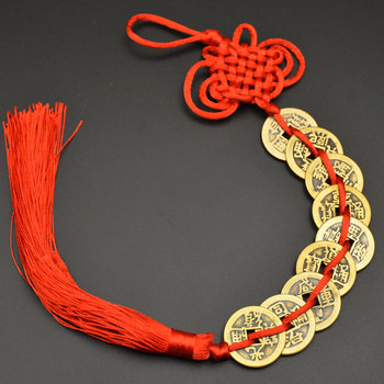 Chinese manual Knot Fengshui Lucky Charms Ancient I CHING Copper Coins Mascot Prosperity Protection Good Fortune Home Car Decor 27