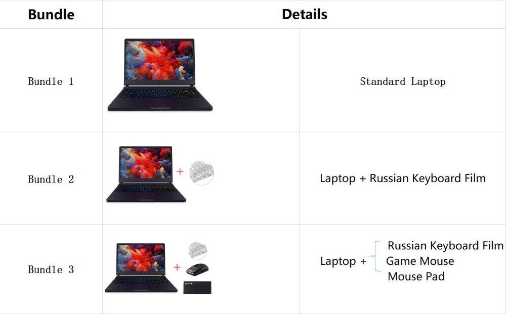Xiaomi Mi Gaming Notebook 15.6 Intel Core 8G+1258G/16G 256GB Windows 10 Quad-core NVIDIA GeForce GTX 1060 I7-7700HQ 1