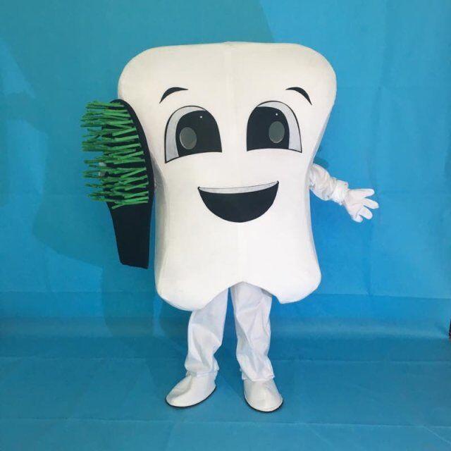 Новый костюм талисмана костюмы для праздников нарядное уход за зубами персонаж маскот платье парк развлечений