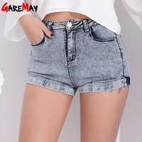 Garemay Womens Denim Shorts Women Short Jeans Black Sexy High Waist Shorts Woman Summer Short Femme