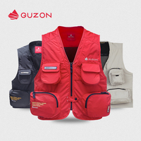 2019 GUZON quick drying canvas vest men's and women's multi pocket fishing suit photography travel bag Storage outdoor
