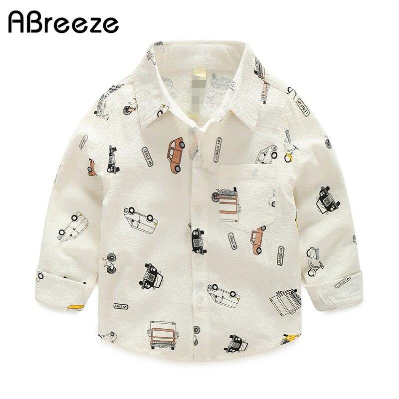 Abreeze Nieuw kleding shirt jongens met lange mouw 2019 lente cartoon - Kinderkleding