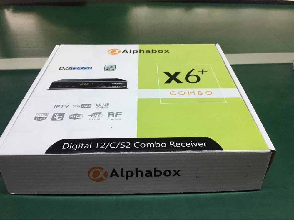 2018 Alphabox X6+ Combo powervu autoroll DVB T2/C/S2 Combo Satellite