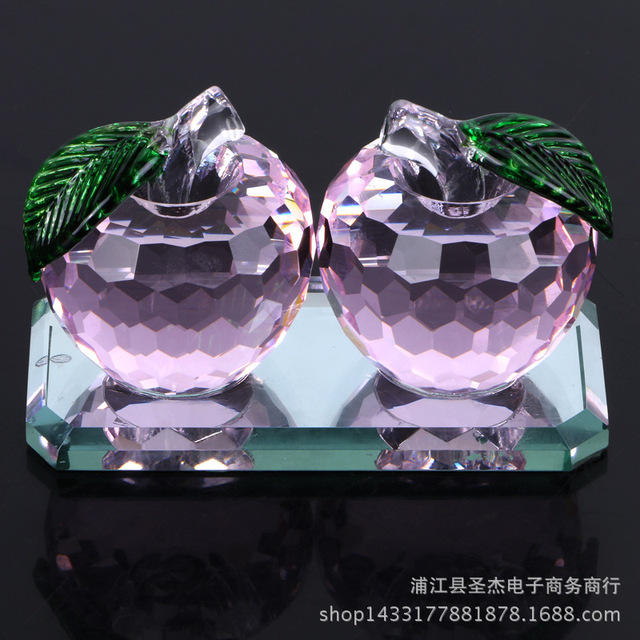 High grade K9 crystal apple car crystal car perfume gift accessories ...