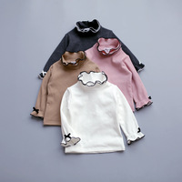 2017 New Autumn Winter Toddler Baby Cute T Shirt Long Flare Sleeve Princess Ruffle Collar Top