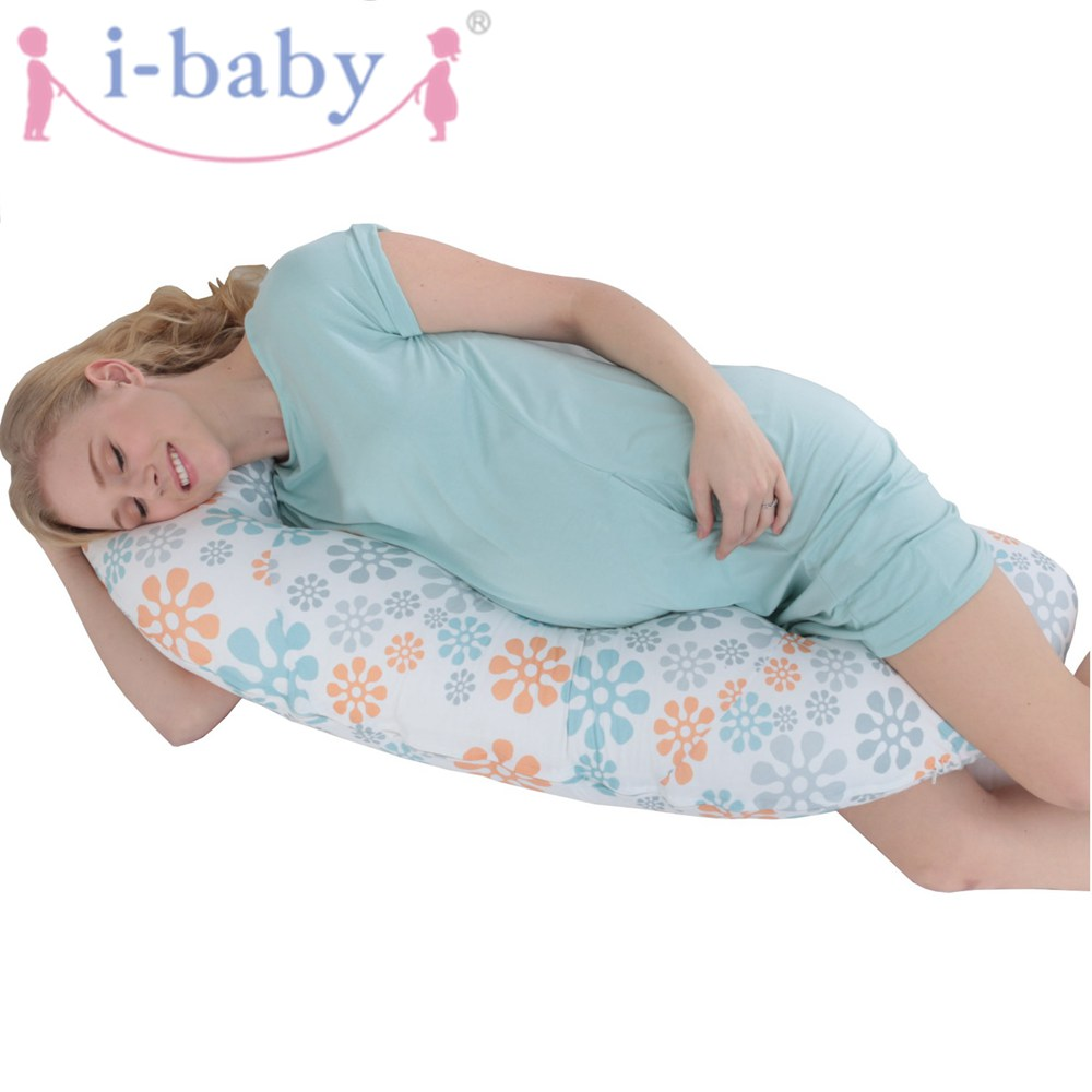 i-baby Full Body Pregnancy Pillow Pregnant Maternity & Nursing Support Cushion w/ Washable Pillow Cover - C Shaped hot sale maternity body pillow pregnant women sleep belly support nursing pillow baby comfy soft breastfeeding pillows