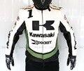PU chaqueta de carreras para Kawasaki motocicleta de carreras off-road de conducción de motos ropa de cuero chaqueta de la ropa a prueba de viento de otoño