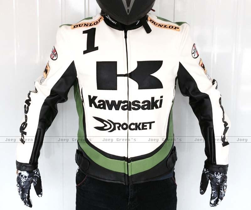 PU racing veste pour Kawasaki moto racing off-road moto vêtements d'équitation en cuir veste vent automne preuve vêtements
