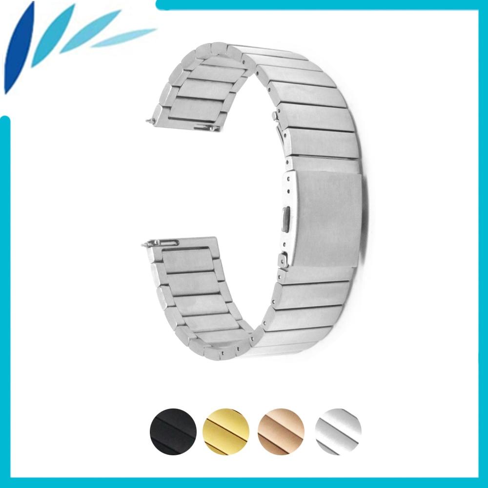 สแตนเลสนาฬิกาวง 22 มิลลิเมตร 23 มิลลิเมตรสำหรับ Baume & Mercier เข็มกลัดพับสายคล้องห่วงข้อมือเข็มขัดสร้อยข้อมือสีดำกุหลาบทองเงิน
