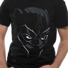 f6d9e12a87d Black Panther Face Wakanda Official Marvel Comic Avengers Movie Mens T-shirt  T shirt Men