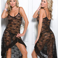 Plus Size XXL Malha sheer nighty noite robes para as mulheres se vestem Sexy longa camisola sleepwear lingerie nova fantasias eróticas